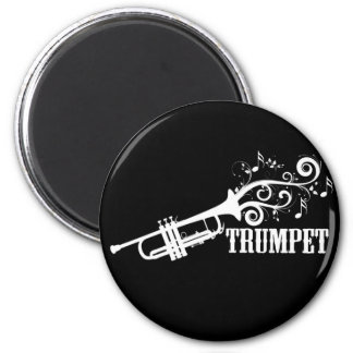 Trumpet Vector with swirls Magnet