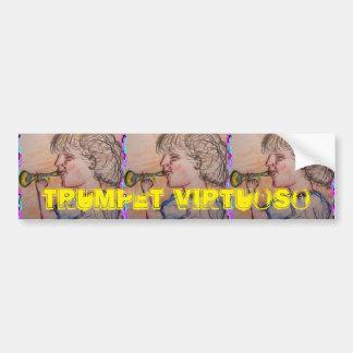 trumpet virtuoso car bumper sticker