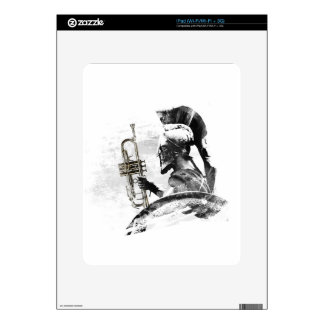 Trumpet Warrior Decal For iPad