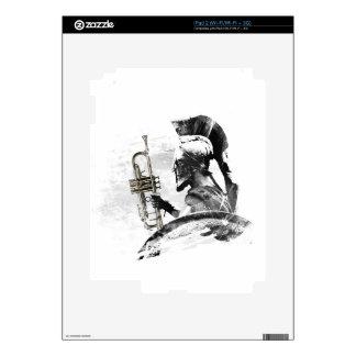 Trumpet Warrior iPad 2 Decal