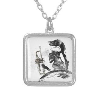 Trumpet Warrior Silver Plated Necklace