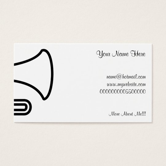 Trumpet, Your Name Here, Business Card