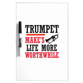Trumpete design dry erase boards
