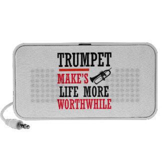 Trumpete design notebook speakers