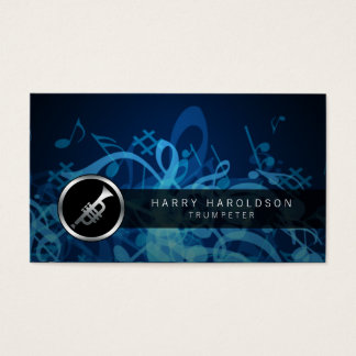 Trumpeter Bold Trumpet Icon Business Card