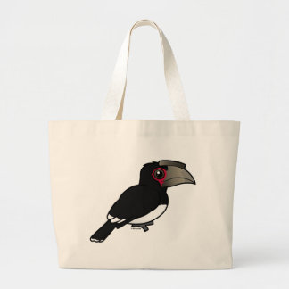 Trumpeter Hornbill Tote Bags