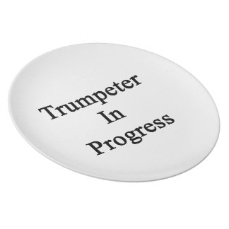 Trumpeter In Progress Party Plates