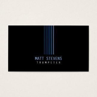 Trumpeter Musician Business Card Blue Beams