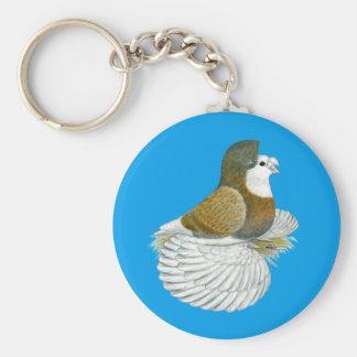 Trumpeter Pigeon AOC Baldhead Keychain