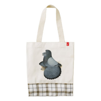 Trumpeter Pigeon Blue Barless Zazzle HEART Tote Bag