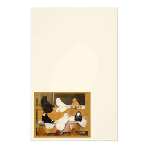 Trumpeter Pigeon Champions Stationery Paper