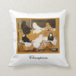 Trumpeter Pigeon Champions Throw Pillow