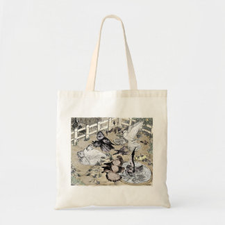 Trumpeter Pigeon Group Watercolor Tote Bag