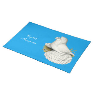Trumpeter Pigeon White Cloth Placemat