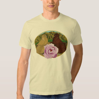Trumpeter Pigeons and Rose T Shirt