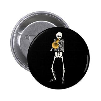 Trumpeter Skeleton Button