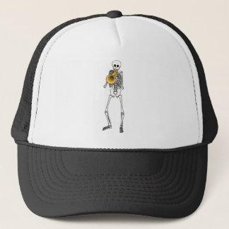 Trumpeter Skeleton Trucker Hat