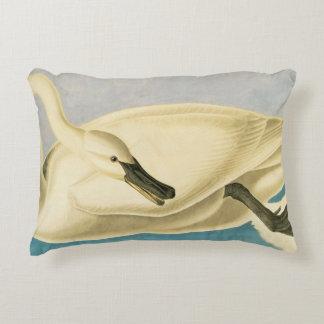 Trumpeter Swan by John James Audubon, Vintage Bird Decorative Pillow