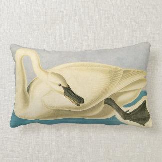 Trumpeter Swan by John James Audubon, Vintage Bird Lumbar Pillow