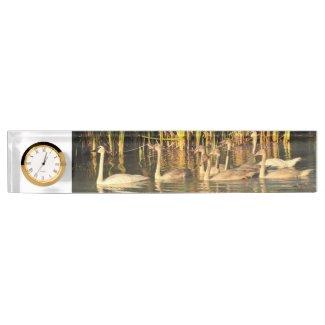 Trumpeter Swan Desk Name Plate