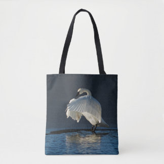 Trumpeter Swan Flapping Tote Bag