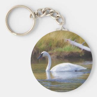 Trumpeter Swan Keychain