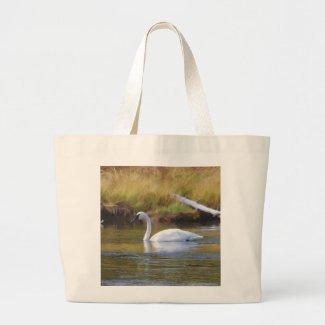 Trumpeter Swan Large Tote Bag