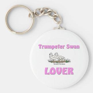 Trumpeter Swan Lover Keychain