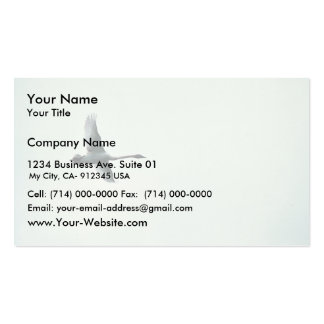 Trumpeter Swan over Martin Lake Double-Sided Standard Business Cards (Pack Of 100)
