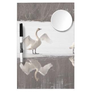 Trumpeter Swan Pairs Dry-Erase Whiteboard
