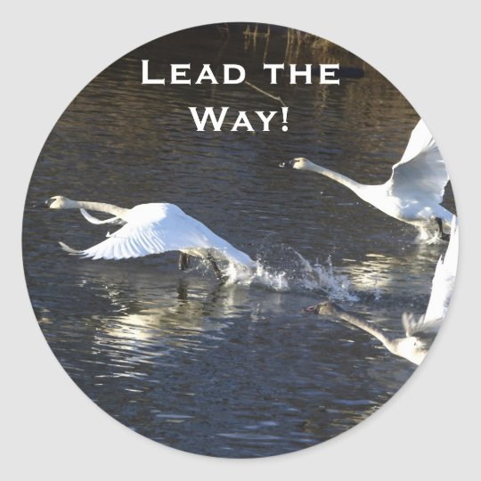 Trumpeter Swans Motivational Gifts Classic Round Sticker