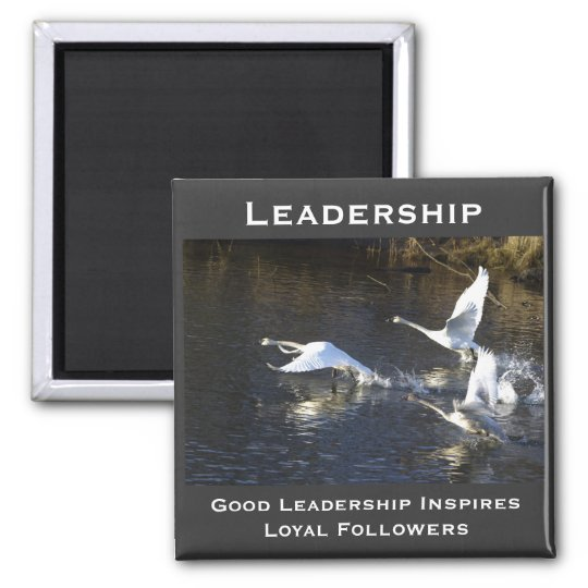 Trumpeter Swans Motivational Gifts Magnet