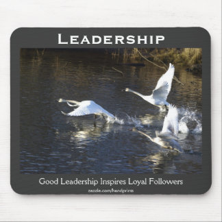 Trumpeter Swans Motivational Gifts Mouse Pad