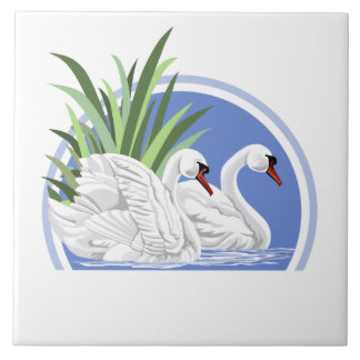 Trumpeter Swans Tile