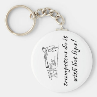 trumpeters do it with hot li basic round button keychain