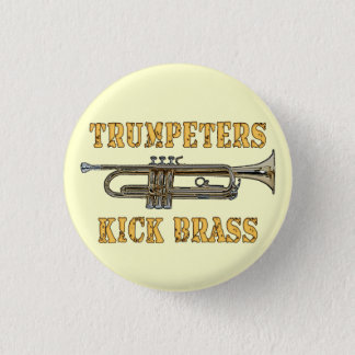 Trumpeters Kick Brass button