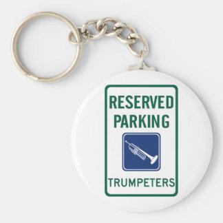 Trumpeters Parking Basic Round Button Keychain