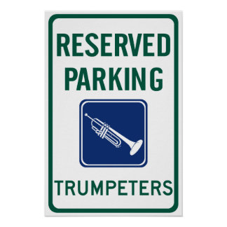 Trumpeters Parking Posters