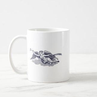 Trumpeting Angel Classic White Coffee Mug