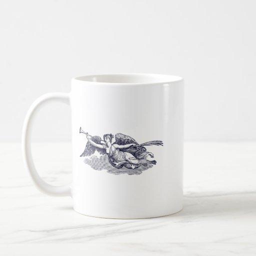 Trumpeting Angel Coffee Mugs