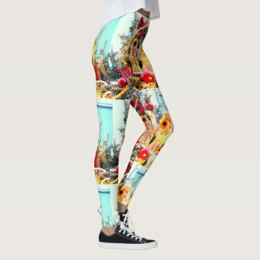 Beach Themed trumpeting angels Thunder_Cove holiday Leggings