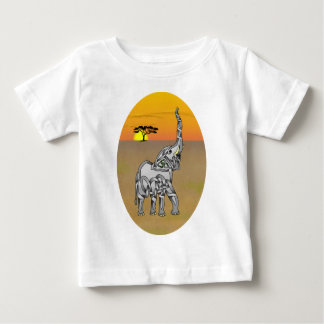 Trumpeting Elephant Baby T-Shirt