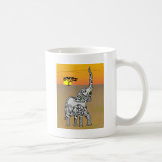 Trumpeting Elephant Coffee Mug