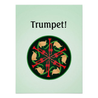 Trumpets and Ribbons Poster
