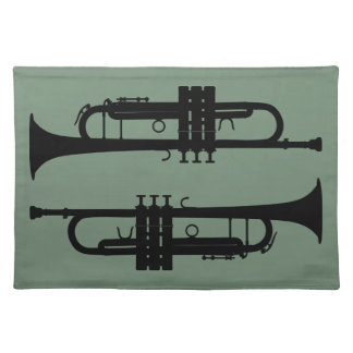 Trumpets Cloth Placemat