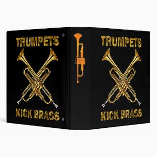 Trumpets Kick Brass 3 Ring Binder
