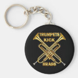 Trumpets Kick Brass Key Chain