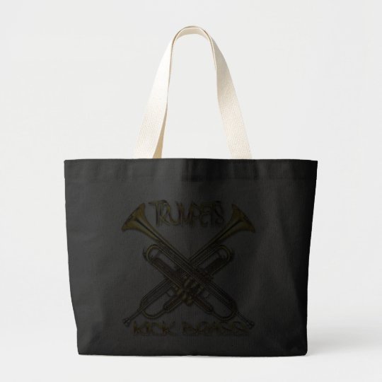 Trumpets Kick Brass Large Tote Bag