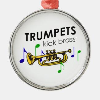 TRUMPETS KICK BRASS METAL ORNAMENT