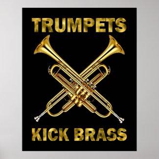 Trumpets Kick Brass Poster